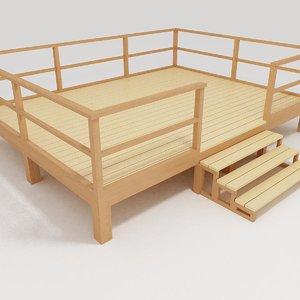 terrace wood 02 obj