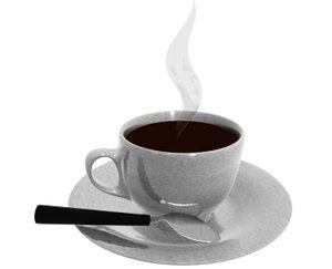 coffee cup preloader 3d model
