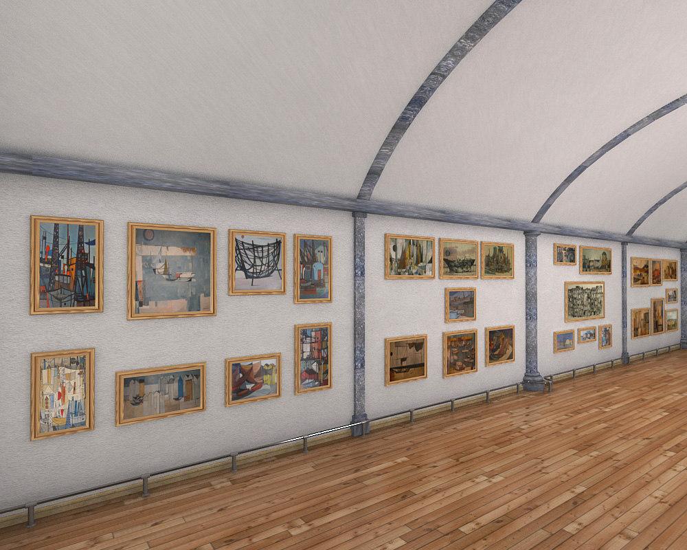 exhibition hall 3d max