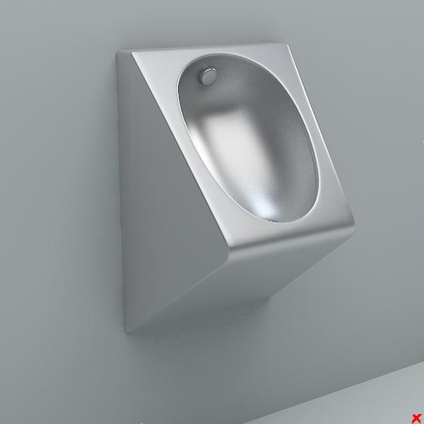 3d urinal model