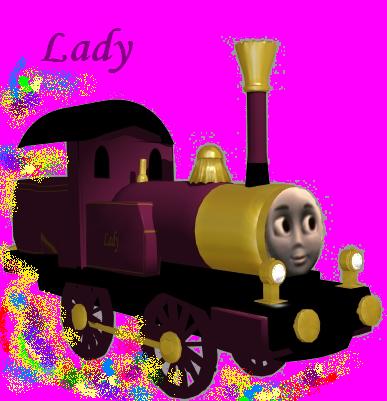 free lady train 3d model