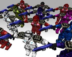 3ds max sci-fi trooper pack gun