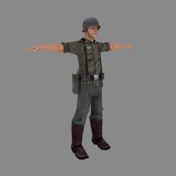 german soldier 3d model