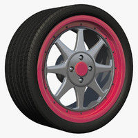 3d wheel sport 2 rim model