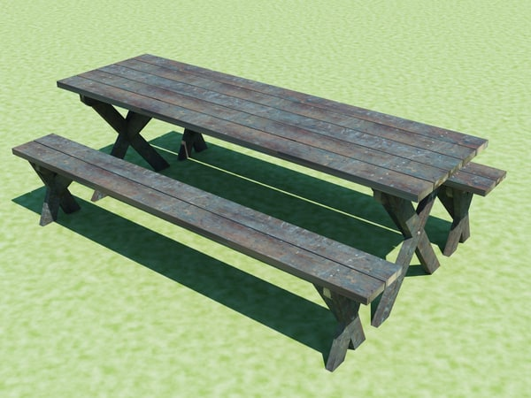 dwg picnic table benches