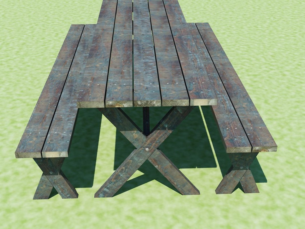 Dwg Picnic Table Benches - Picnic table dwg