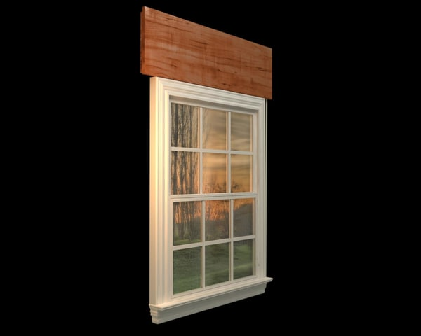 3d window elements model
