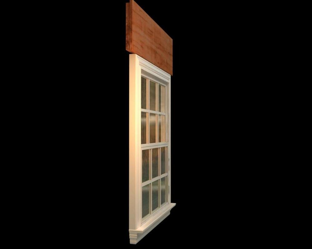 3d window elements model