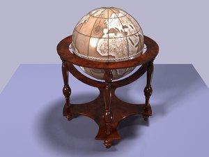 1600s wine globe 3d max