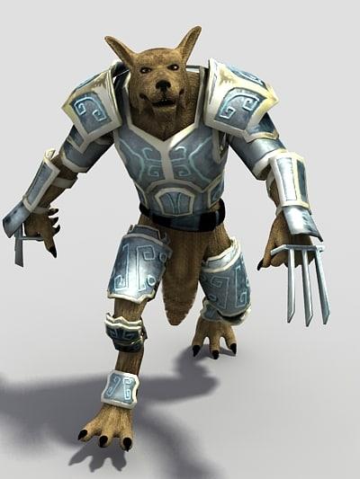 character werwolf wolf c4d