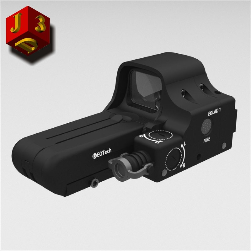sight eotech laser 3d c4d