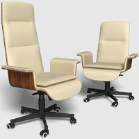 Office chairs with low and high backs