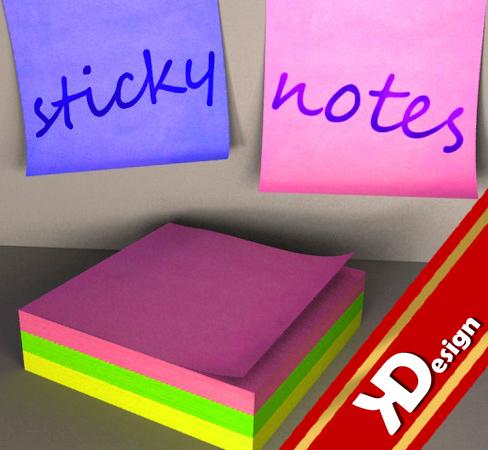 3d model sticky notes
