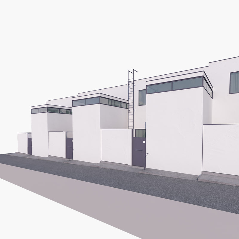 3d model modern architecture building