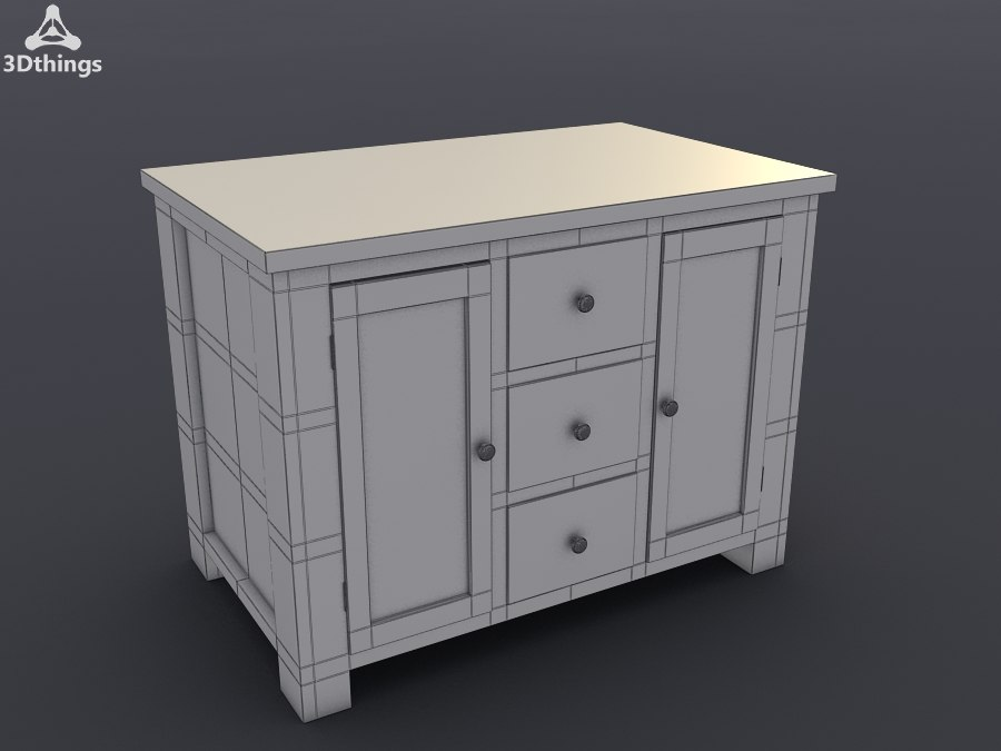 3d model of stand closet