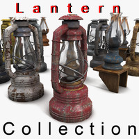 Lantern Collection Textured Set out outdoor  flame wax exterior retro iron bronze paint rust rusty