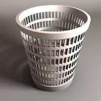 3d model garbage bin