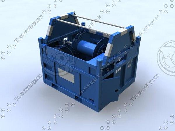 3d cable spooler model