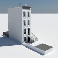 home street new york 3d model