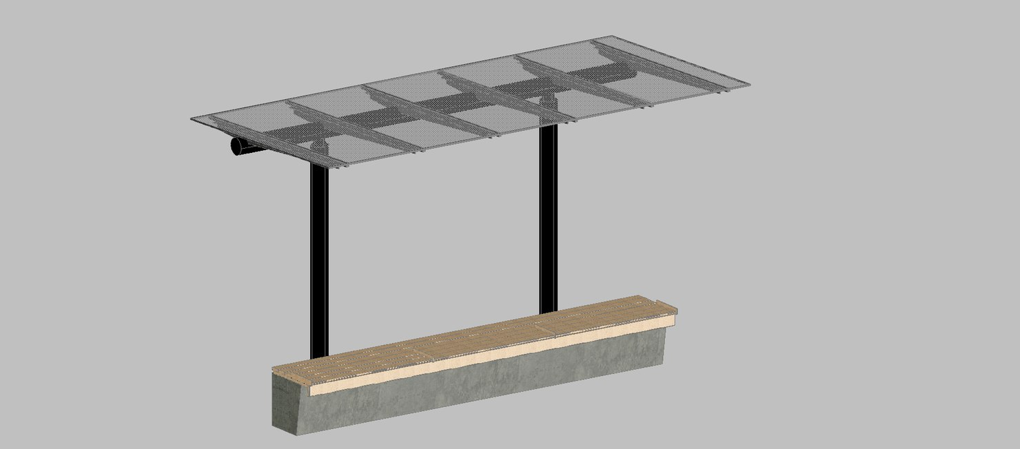 3d model bench cover