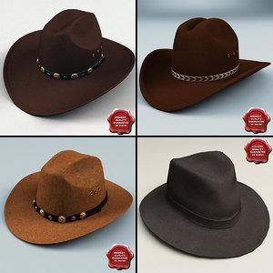 3d cowboy hats
