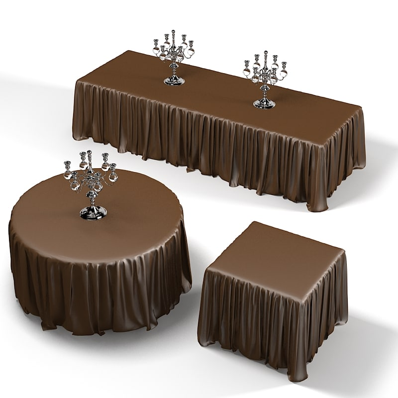3d model dining table draped for Table 3d model