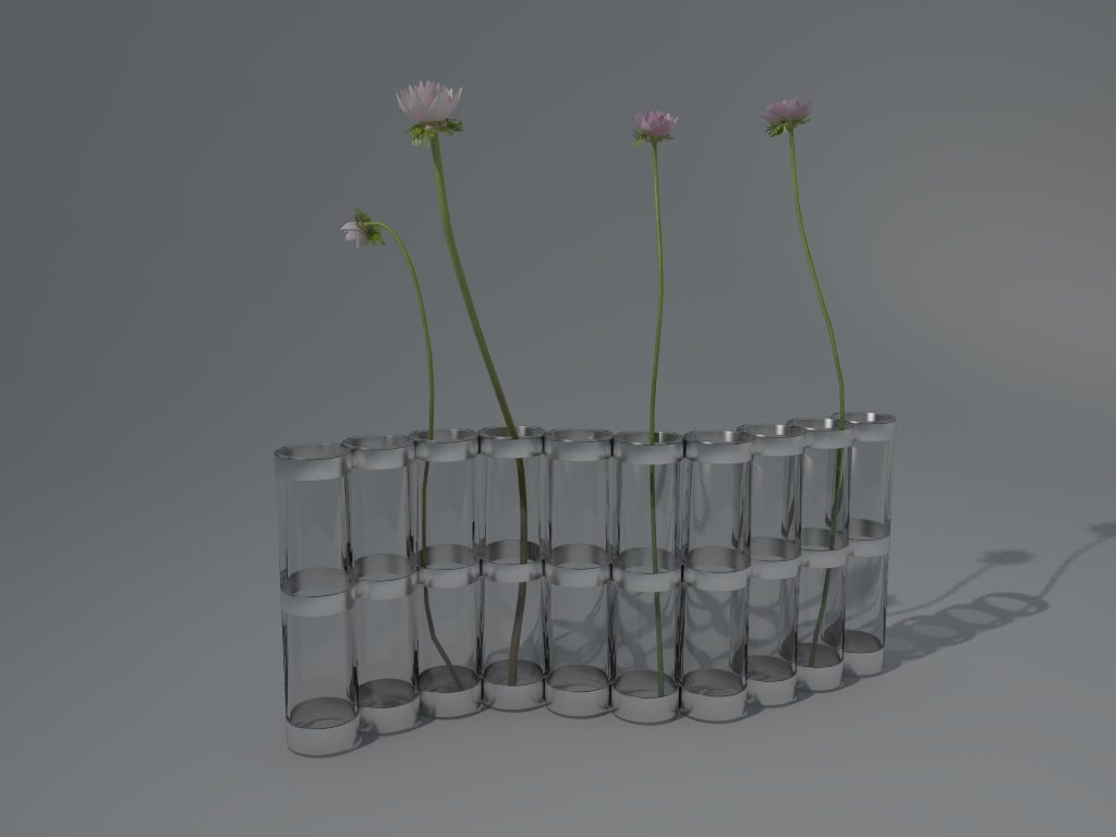 cinema4d pipes flowers