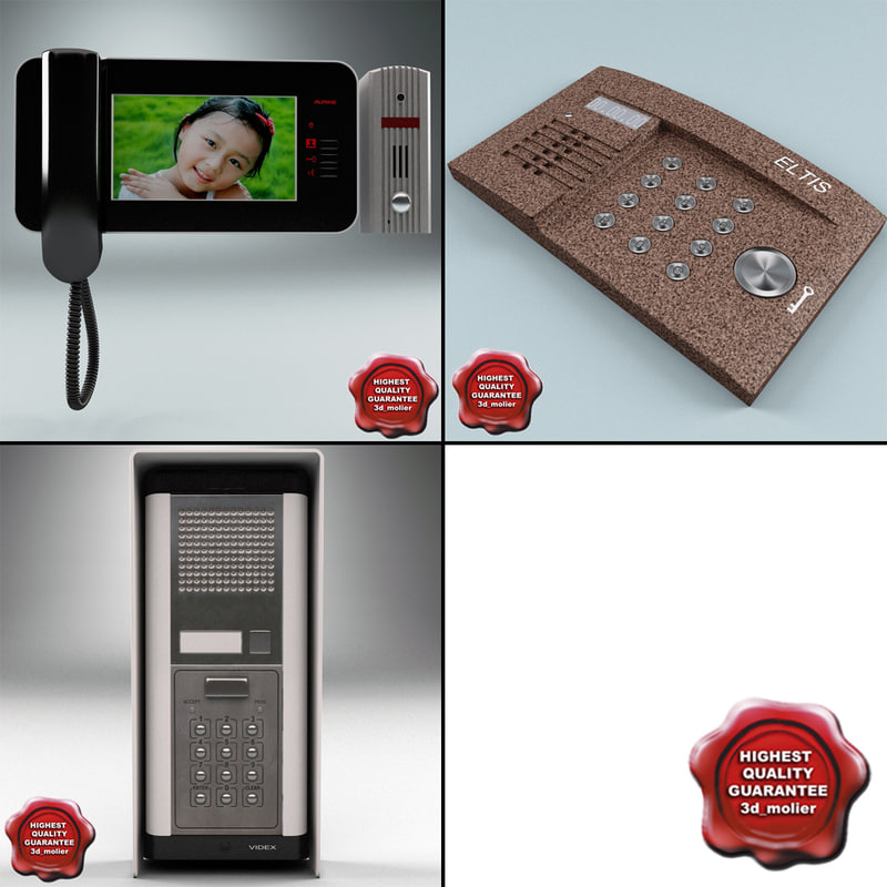 intercoms set video 3d model