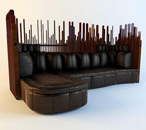 sofa isle palm 3d model