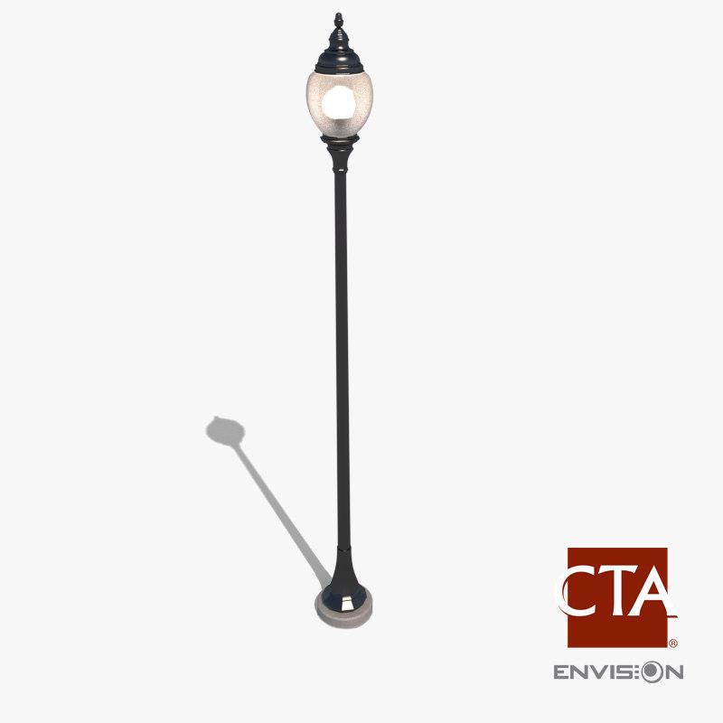 3dsmax decorative lamp post