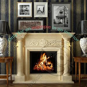 3d model fireplace 49