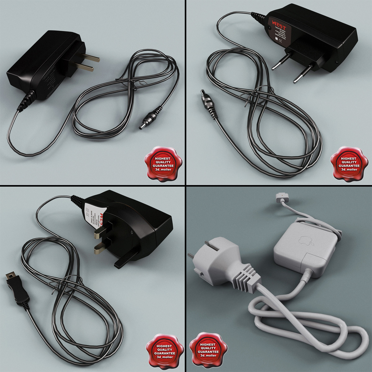 phone chargers v2 3d model