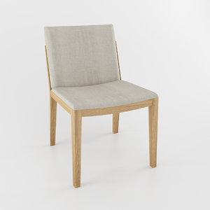 3d model beatrice dining chair poltrona frau