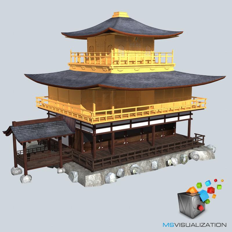 3d model japanese palace