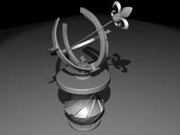 free blend model sundial vase