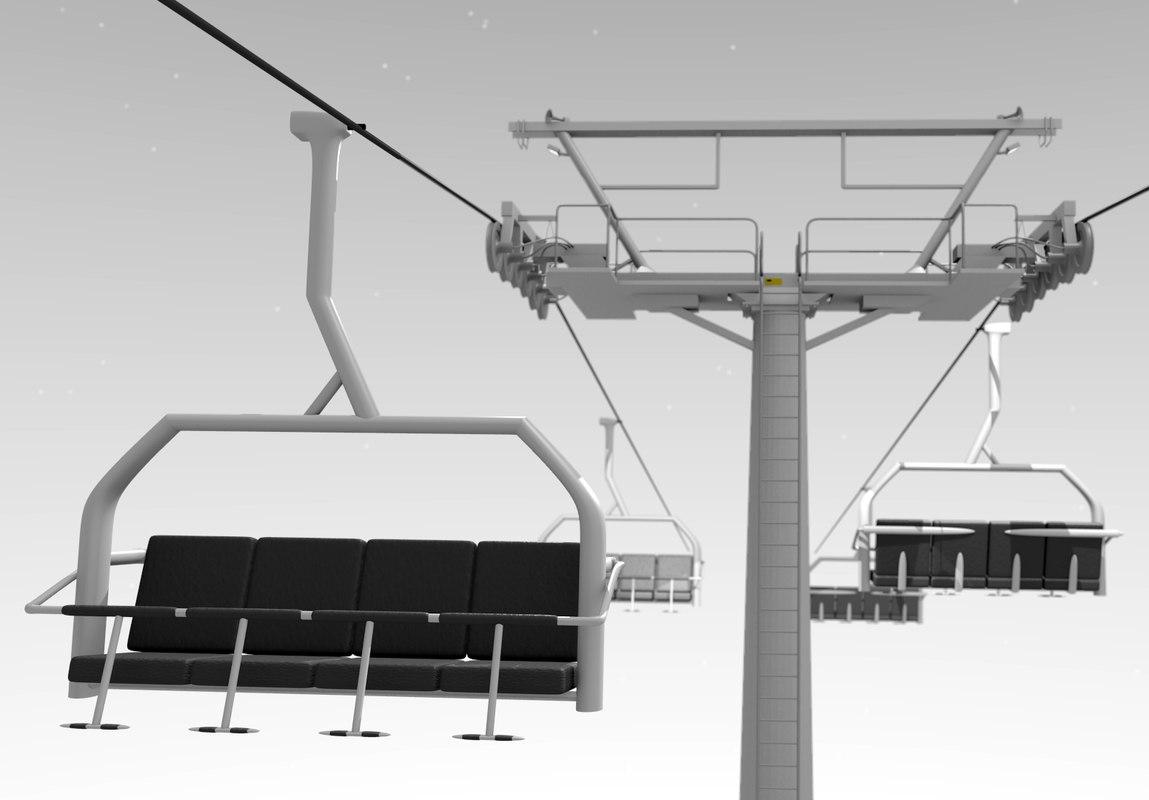 3d ski lift
