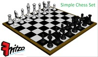 3d model of simple chess set board