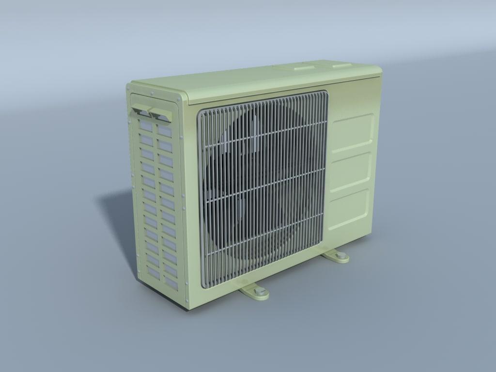 Air Conditioner Outdoor Compressor 3d Lwo