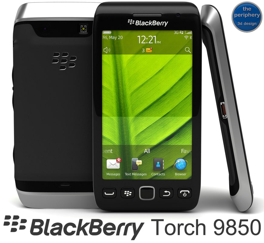 blackberry torch 9850 smartphone 3d 3ds