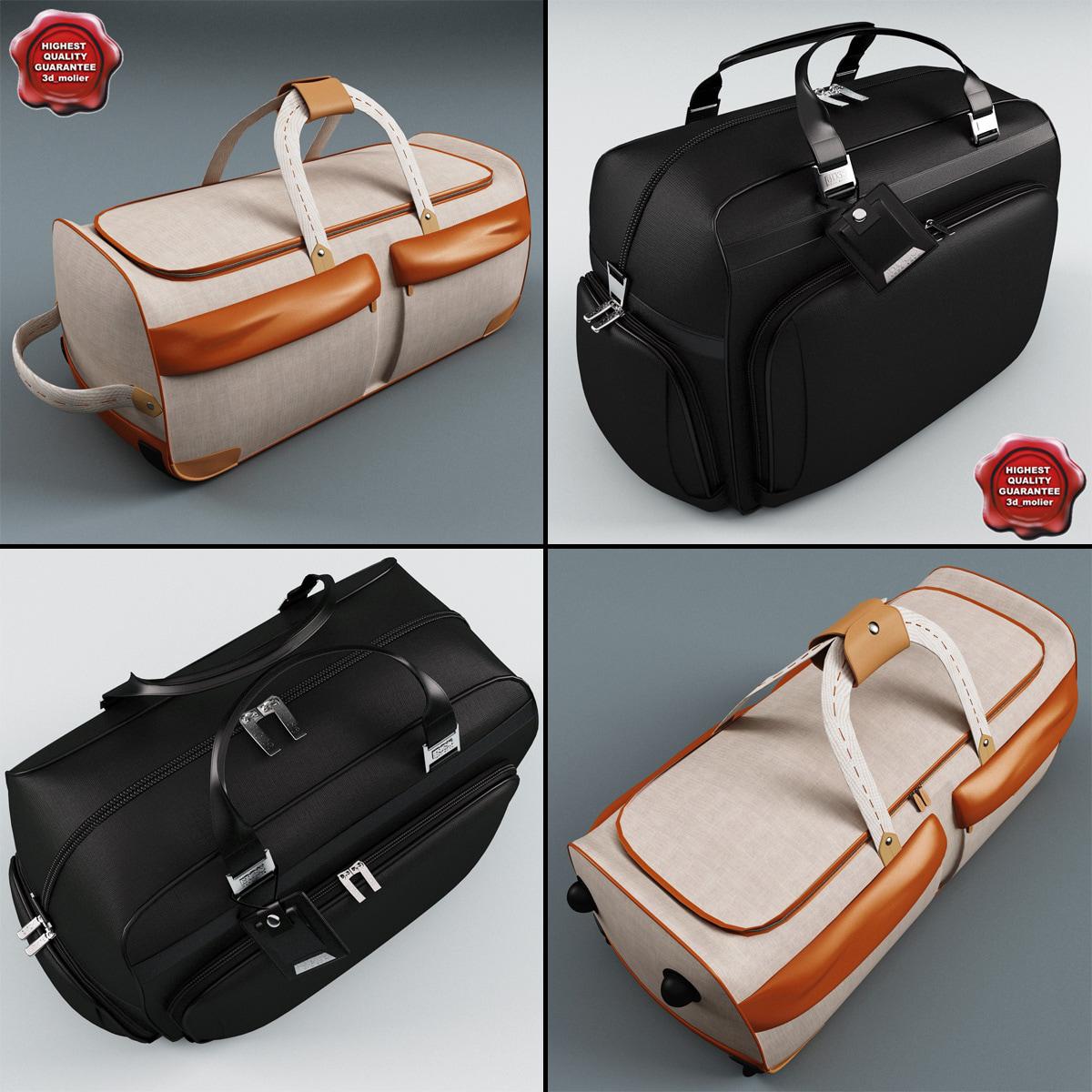 3d model travel bags v1