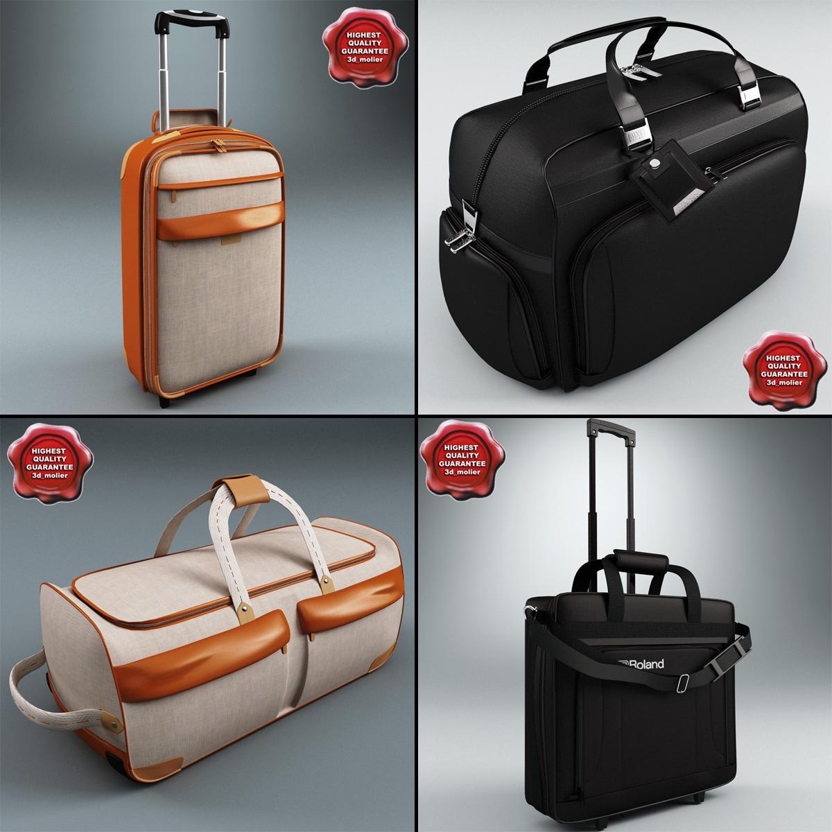 3d travel bags v2 model
