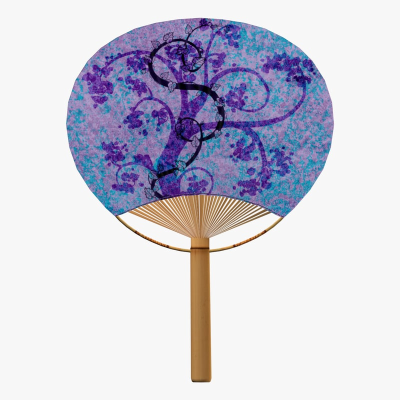 uchiwa hand fan 3d model