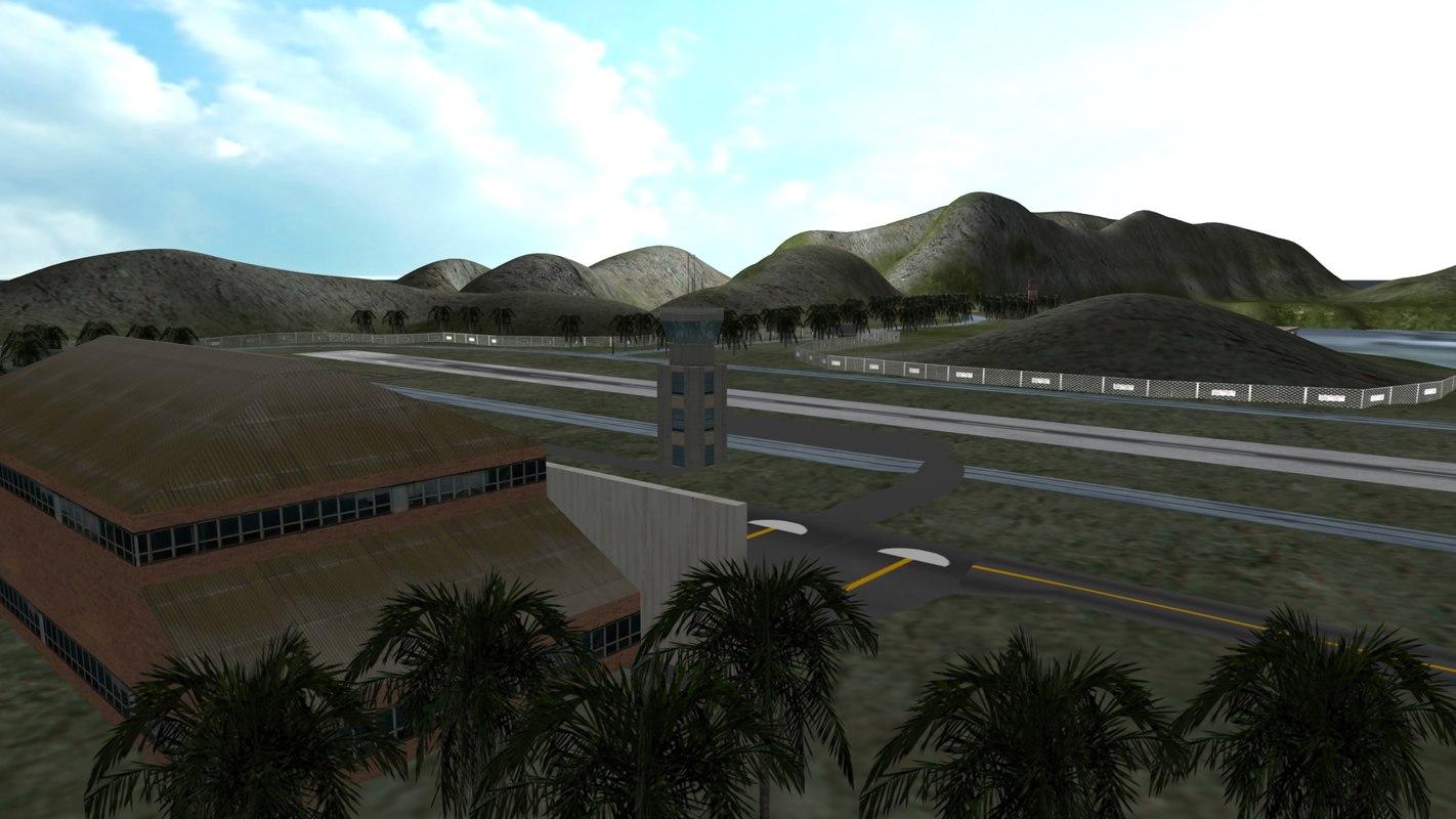3d model of island air force