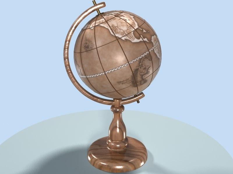3dsmax antique globe