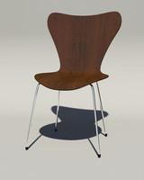 3ds max designer chair arne jacobsen