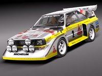 3d model audi sport quattro s1