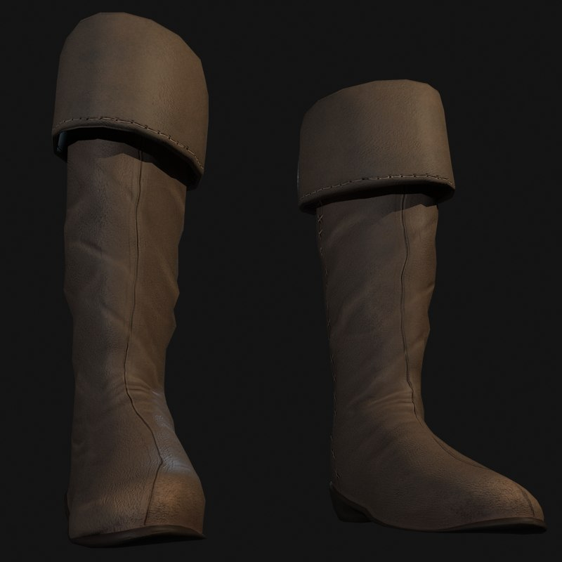 medieval boot 3d 3ds