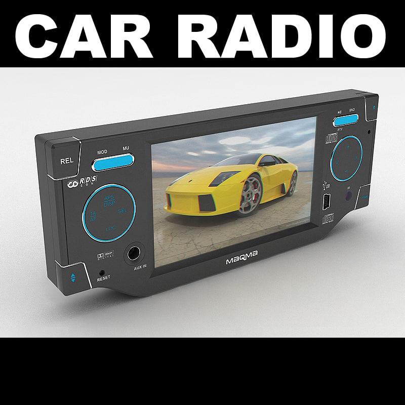 car radio 3d max