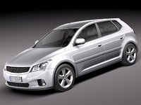 general average hatchback car 3d 3ds