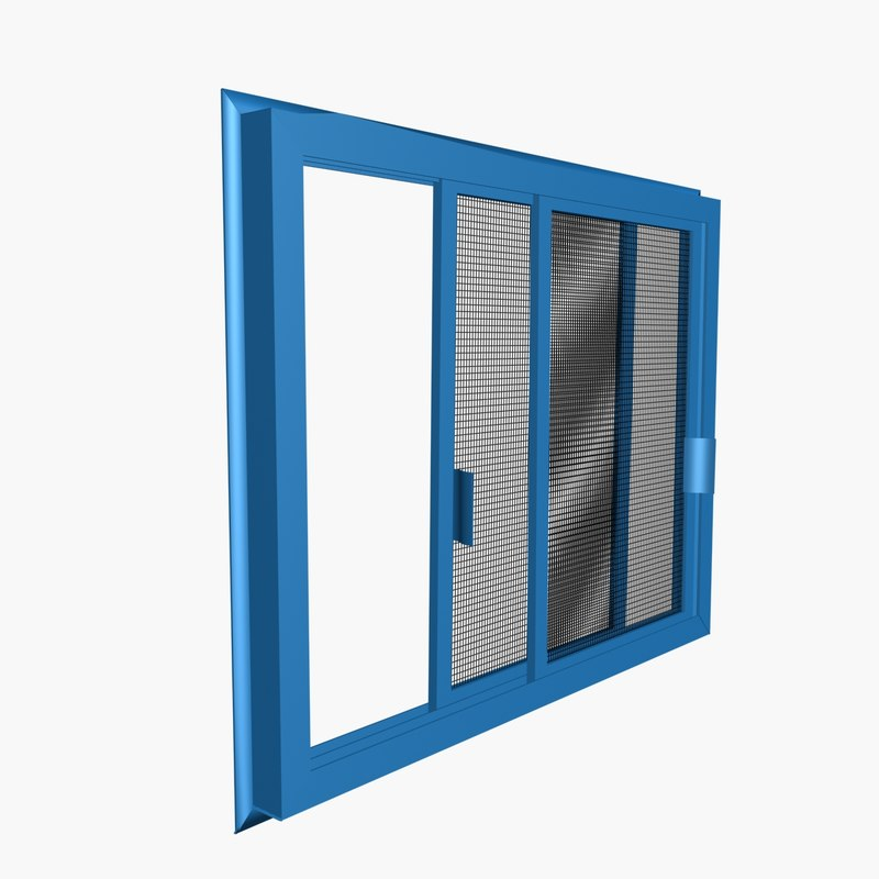 3d model double sliding insect screen